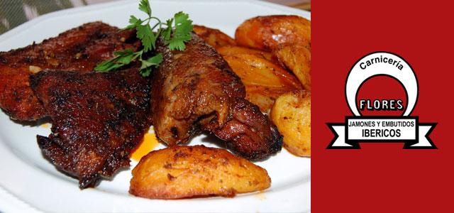 Receta especial San Valent�n: Secreto ib�rico al horno con guarnici�n de patatas